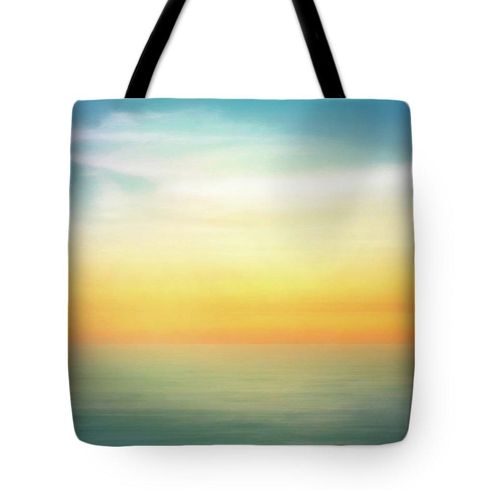 Pastel Tote Bag featuring the digital art Pastel Sunrise by Scott Norris