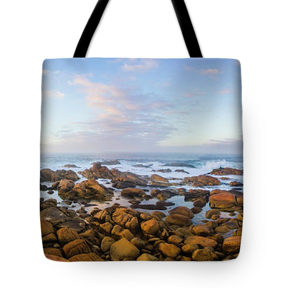 Landscape Tote Bag featuring the photograph Pastel Tone Seaside Sunrise by Jorgo Photography - Wall Art Gallery