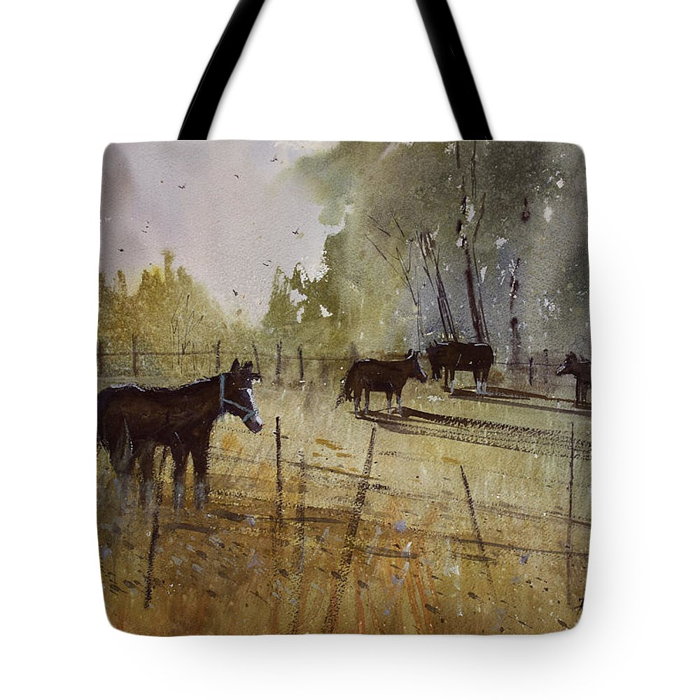 Paintings Tote Bag featuring the painting Pastoral by Ryan Radke