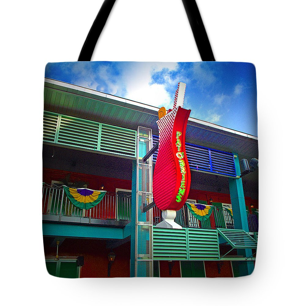 Restaurant Tote Bag featuring the photograph Pat O'briens by Gary Adkins