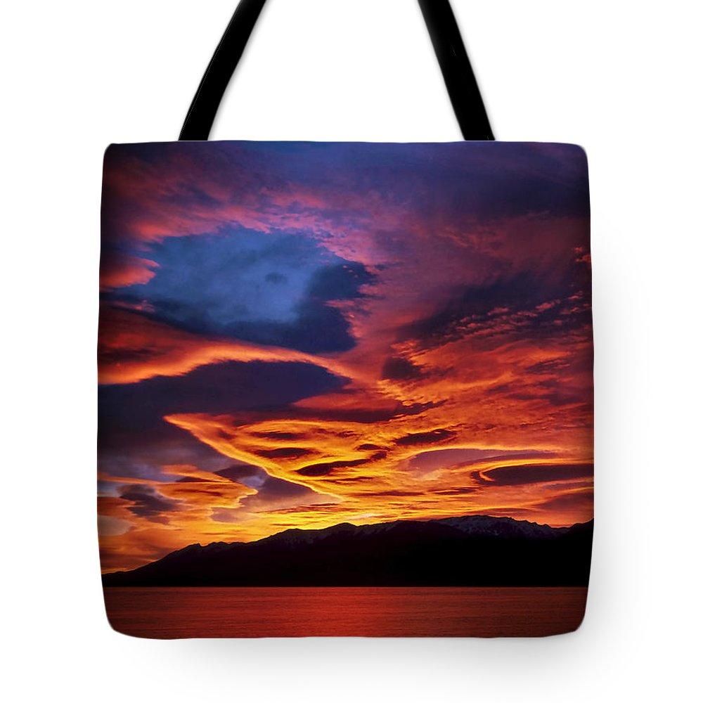 Patagonia Tote Bag featuring the photograph Patagonian Sunrise by Joe Bonita