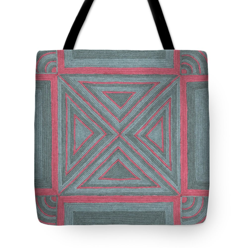 Patchwork Tote Bag featuring the drawing Patchwork by Jill Lenzmeier