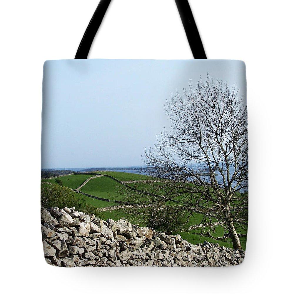 Irish Tote Bag featuring the photograph Patchwork Quilt Lough Corrib Maam Ireland by Teresa Mucha