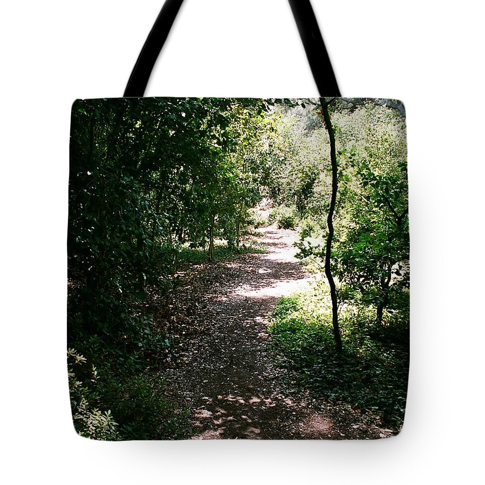 Path Tote Bag featuring the photograph Path by Dean Triolo