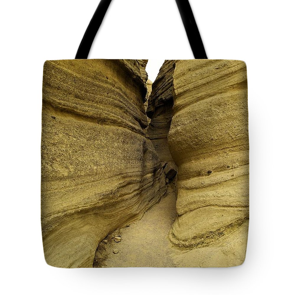 Desert Tote Bag featuring the photograph Path Through The Tent Rocks by Jeff Swan