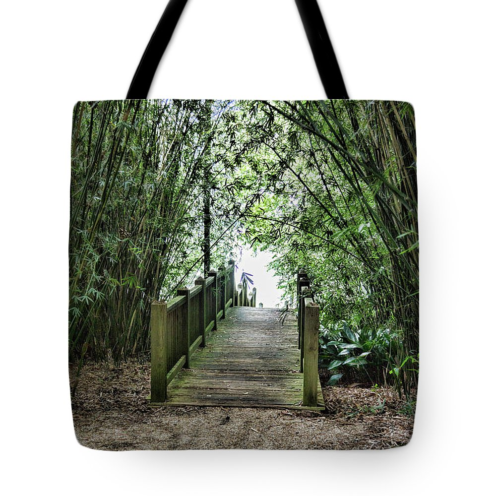 Landscape Tote Bag featuring the photograph Path To Jefferson Lake Louisiana by Chuck Kuhn