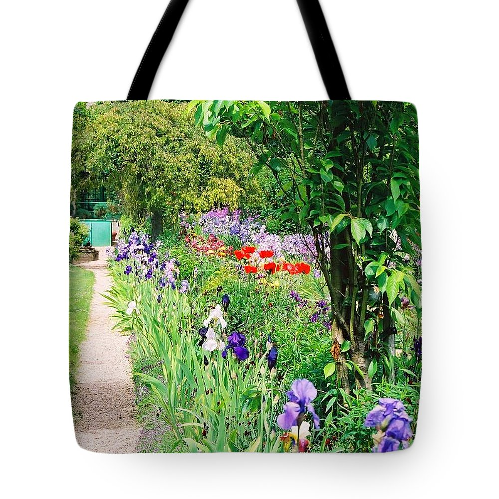 Claude Monet Tote Bag featuring the photograph Path To Monet's House by Nadine Rippelmeyer