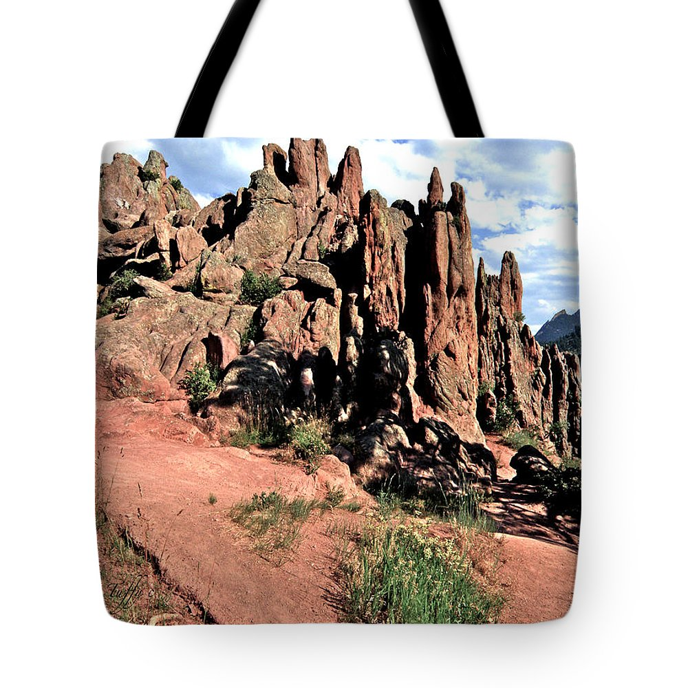 Path Red Rocks Settlers Park Boulder Colorado Rockformations Rocky Mountains Nature Tote Bag featuring the photograph Path To Red Rocks by George Tuffy