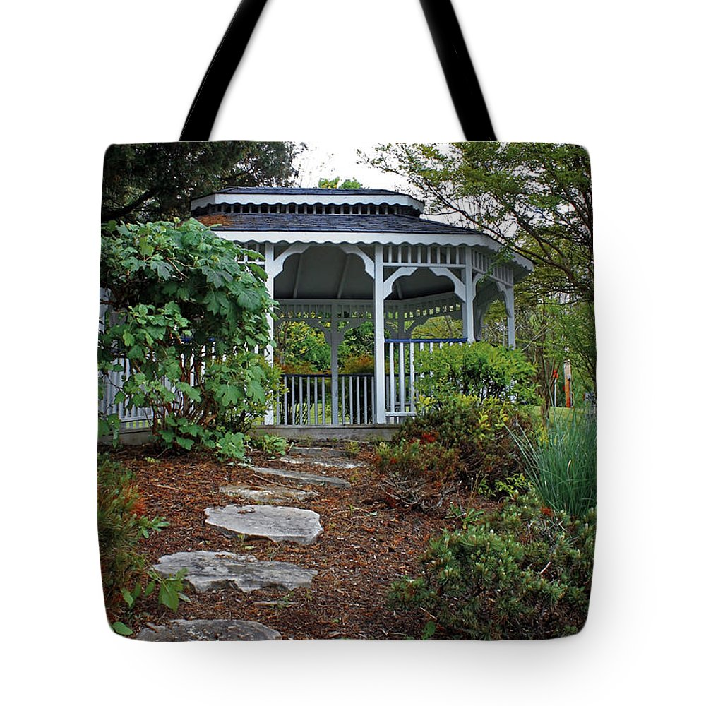 Landscape Tote Bag featuring the photograph Path To The Gazebo by Todd Blanchard