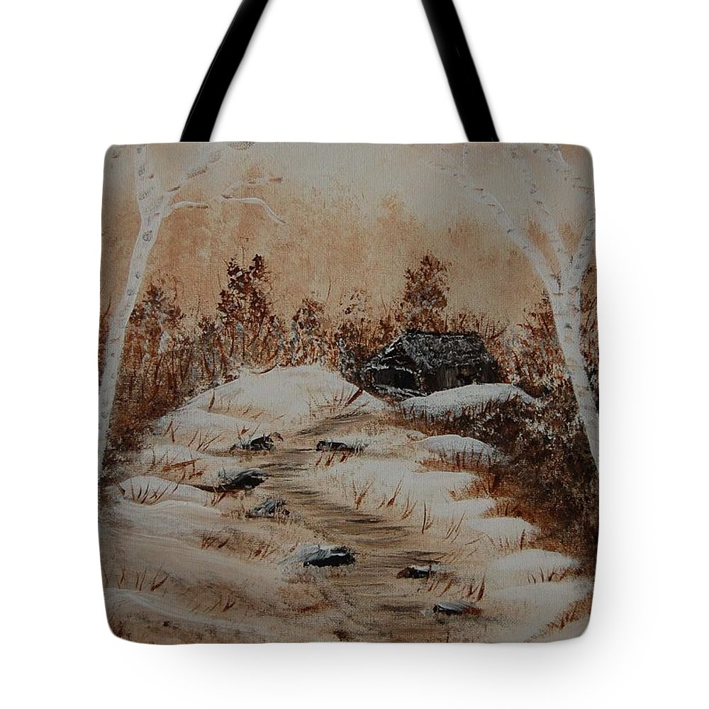 Acrylics Tote Bag featuring the painting Pathway To Freedom by Laurie Kidd