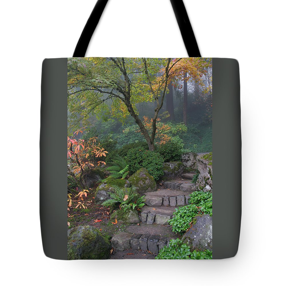 Pathway To Serenity Tote Bag featuring the photograph Pathway To Serenity by Wes and Dotty Weber