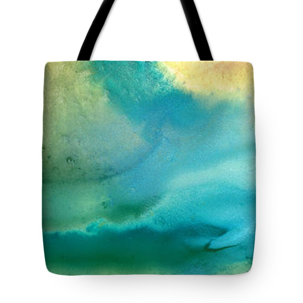 Abstract Art Tote Bag featuring the painting Pathway To Zen by Sharon Cummings