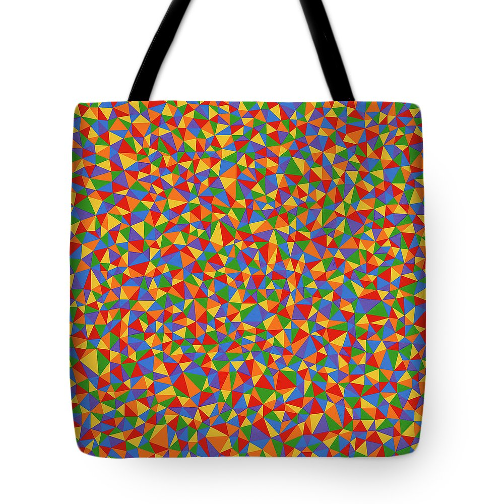 Abstract Tote Bag featuring the painting Patience by Janet Hansen