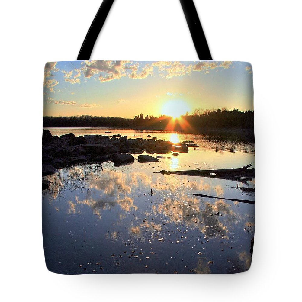 Lake Tote Bag featuring the photograph Patience by Mitch Cat