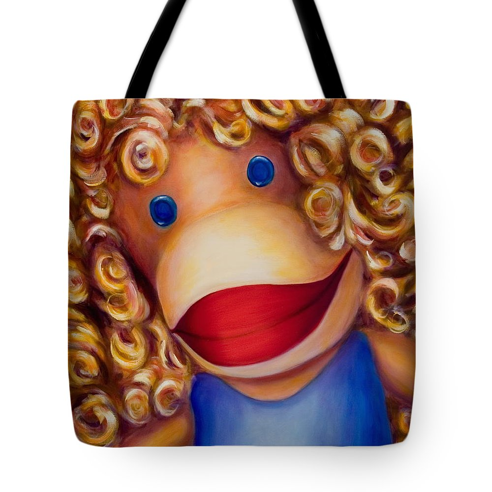 Children Tote Bag featuring the painting Patricia by Shannon Grissom