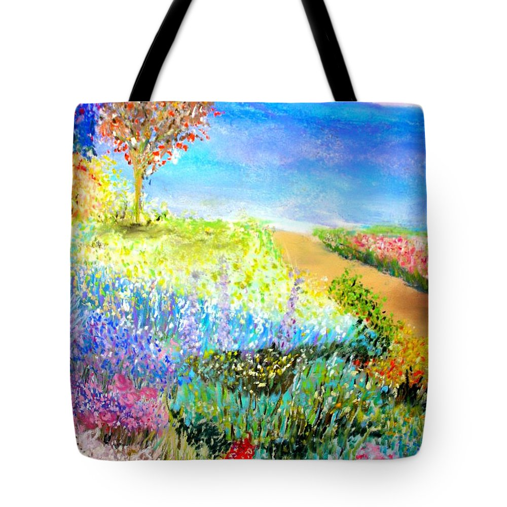 Landscape Tote Bag featuring the print Patricia's Pathway by Melinda Etzold