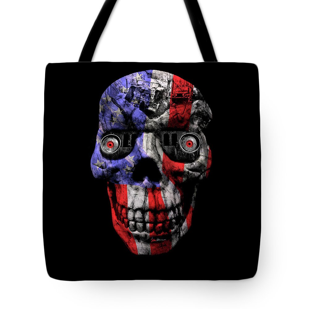 Jeep Tote Bag featuring the photograph Patriotic Jeeper Cyborg No. 1 by Luke Moore