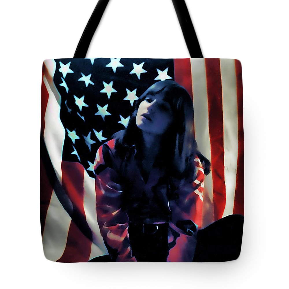 Flag Tote Bag featuring the photograph Patriotic Thoughts by David Patterson