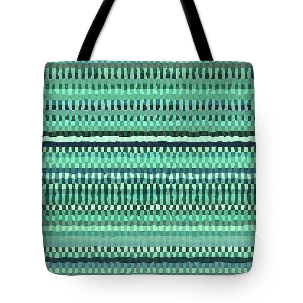 Pattern 87 Tote Bag featuring the digital art Pattern 87 by Marko Sabotin