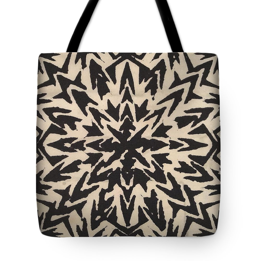 Abstract Tote Bag featuring the mixed media Pattern Creation by Natalie Holland