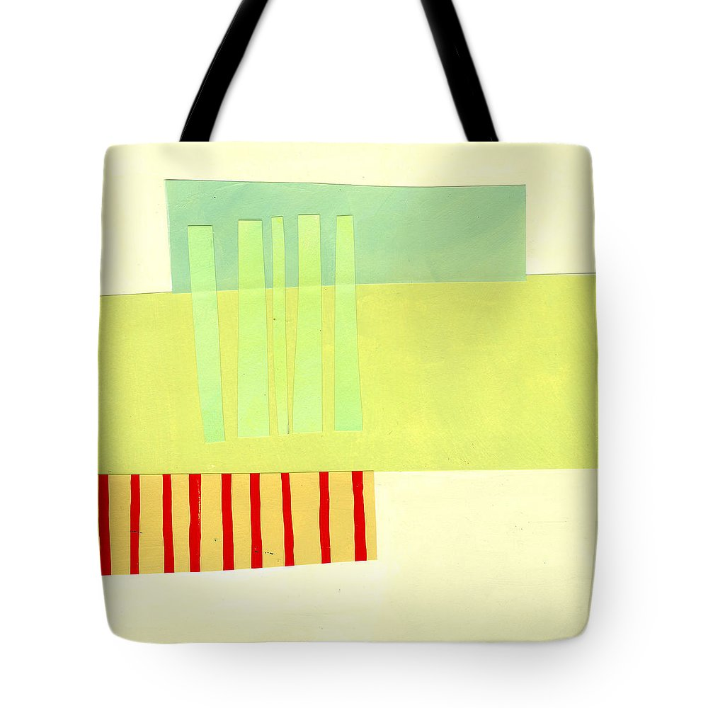 Abstract Art Tote Bag featuring the painting Pattern Grid # 13 by Jane Davies
