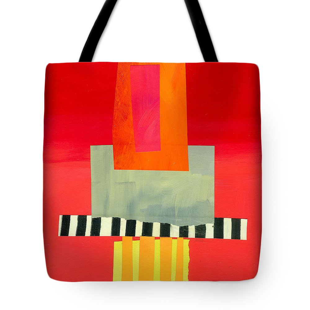 Abstract Art Tote Bag featuring the painting Pattern Grid # 14 by Jane Davies