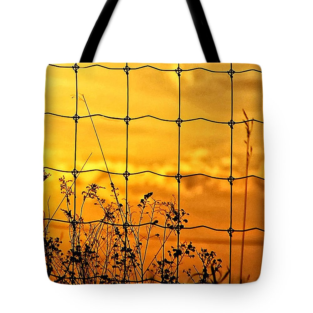 Weeds Tote Bag featuring the photograph Patterns by Steve Harrington