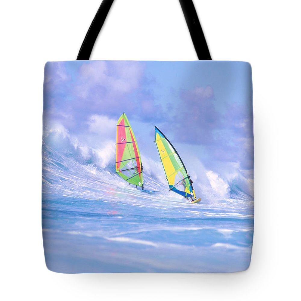 Adrenaline Tote Bag featuring the photograph Paul And Gary by Erik Aeder - Printscapes