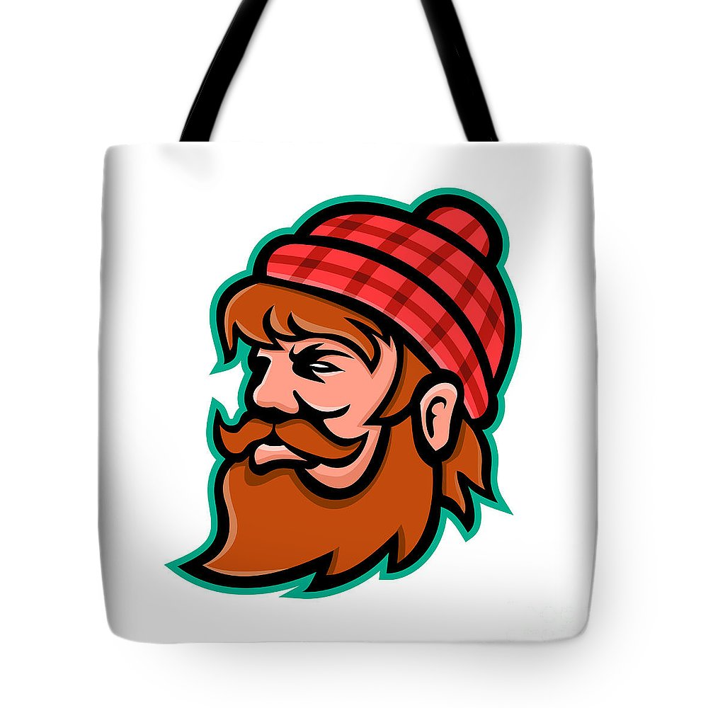 Mascot Tote Bag featuring the digital art Paul Bunyan Lumberjack Mascot by Aloysius Patrimonio