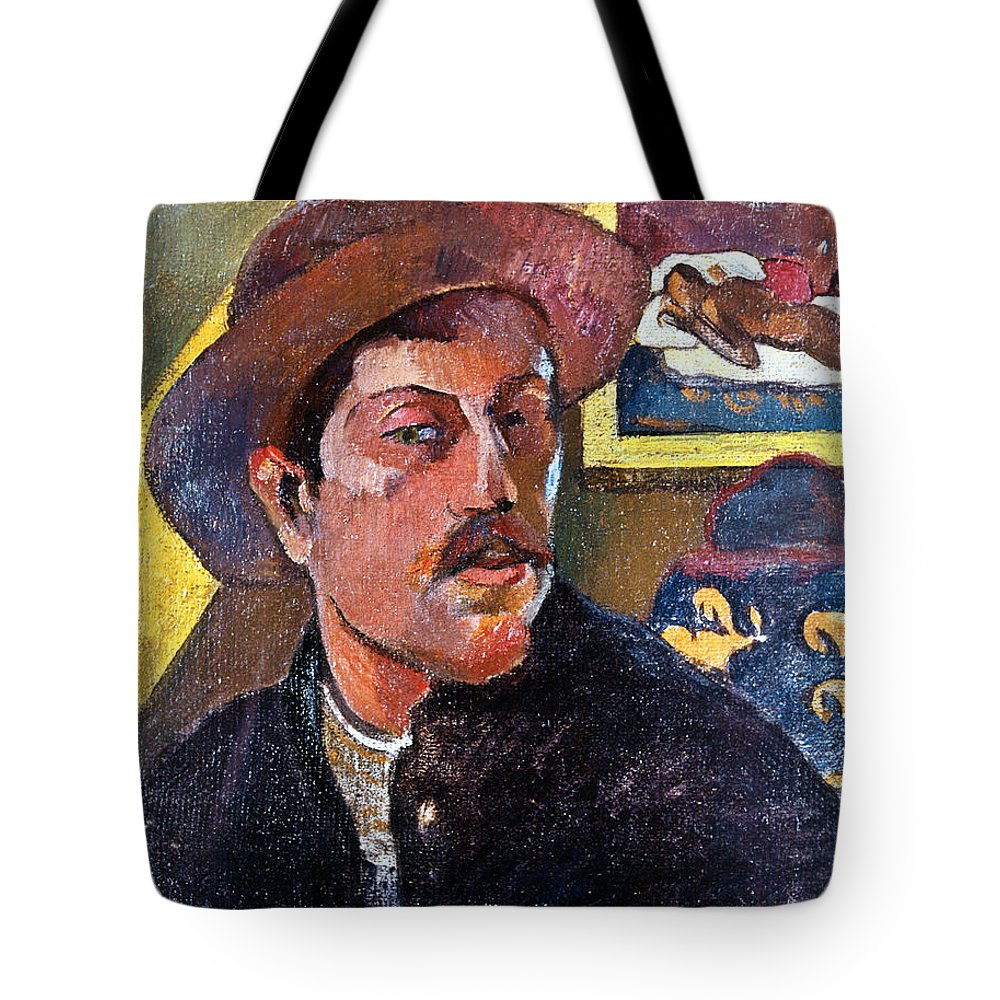 1893 Tote Bag featuring the photograph Paul Gaugin (1848-1903) by Granger