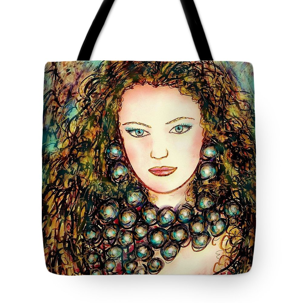 Woman Tote Bag featuring the painting Paula by Natalie Holland