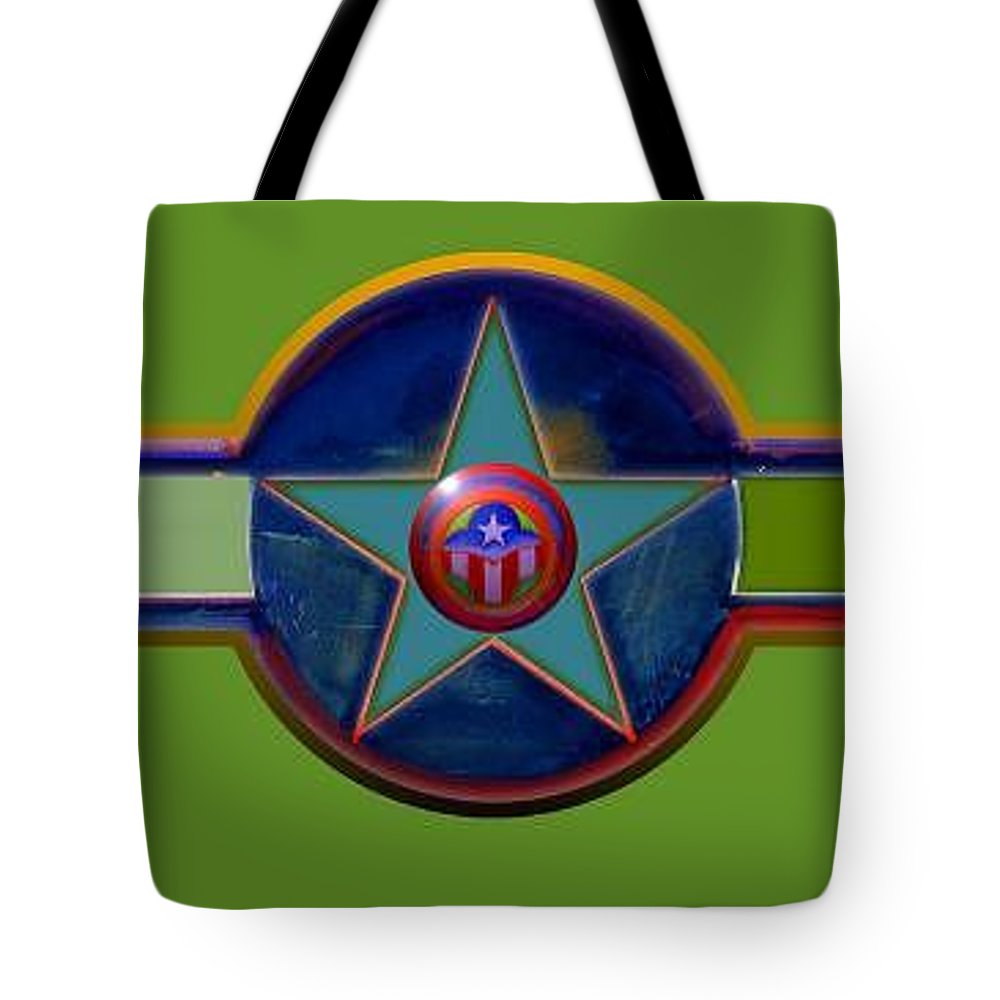 Usaaf Insignia Tote Bag featuring the digital art Pax Americana Decal by Charles Stuart