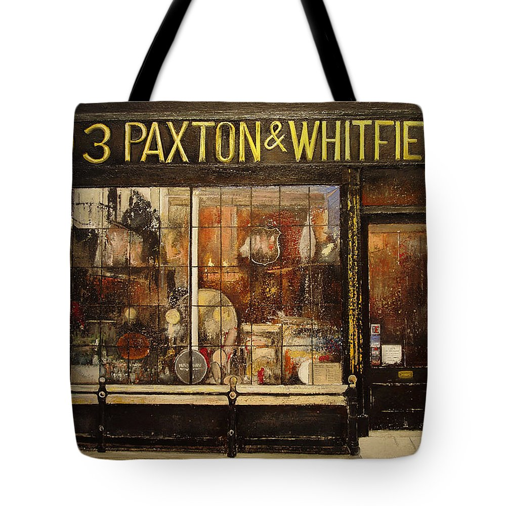 Paxton Tote Bag featuring the painting Paxton Whitfield .London by Tomas Castano