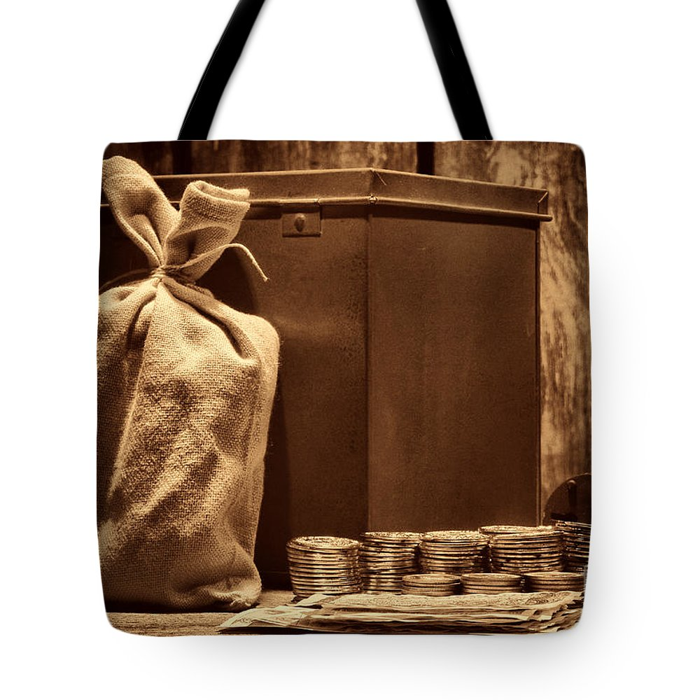 Western Tote Bag featuring the photograph Pay Day by American West Legend By Olivier Le Queinec