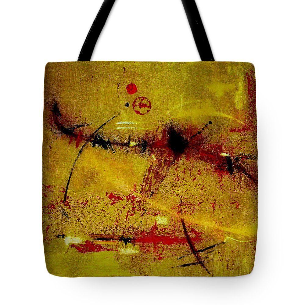 Abstract Tote Bag featuring the painting Pay More Careful Attention by Ruth Palmer