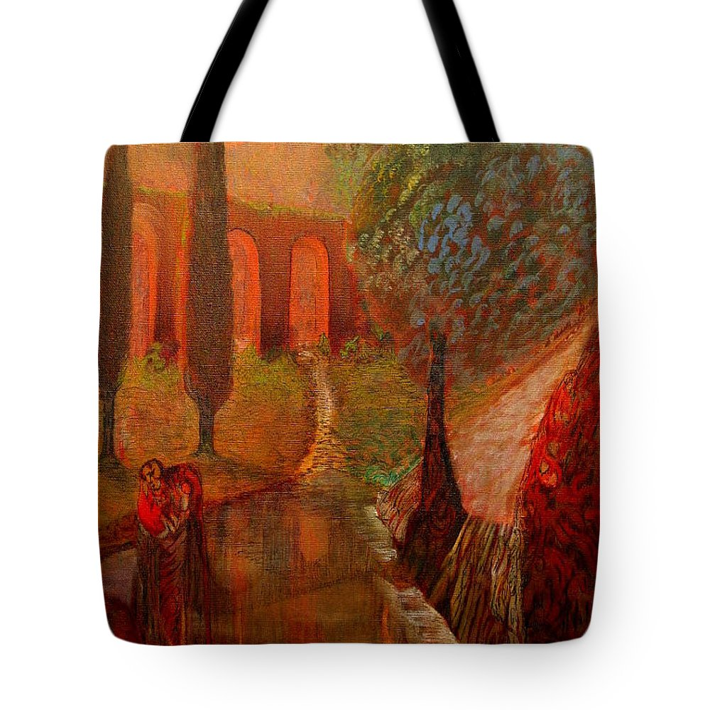 Imaginatio Tote Bag featuring the painting Payerbach Austria by Robert Gravelin