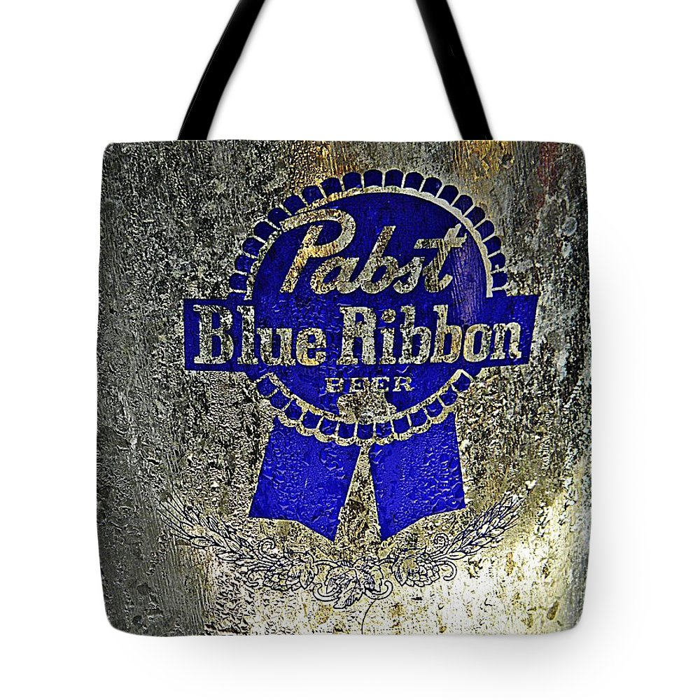 Adult Tote Bag featuring the photograph Pbr Bucket O Beer by Chris Berry