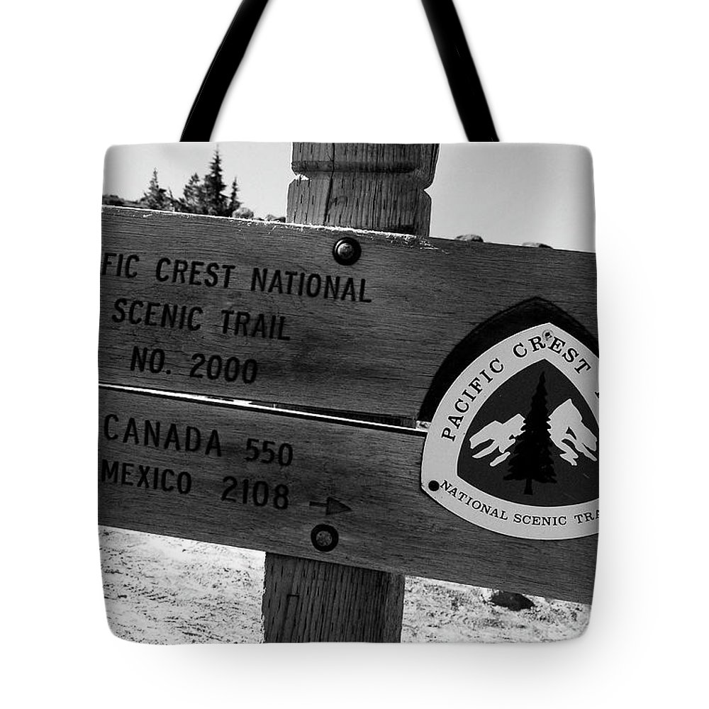Fine Art Photography Tote Bag featuring the photograph Pct Scenic Trail by David Lee Thompson