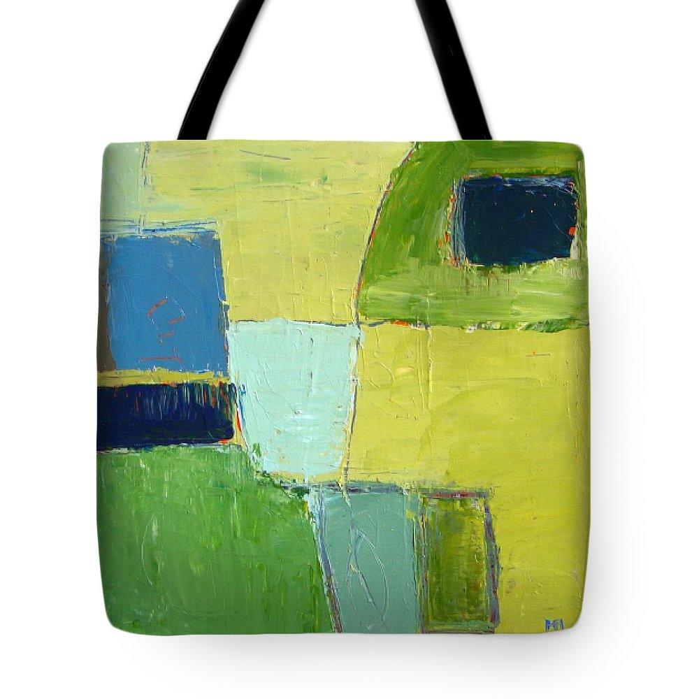 Abstract Tote Bag featuring the painting Peace 1 by Habib Ayat