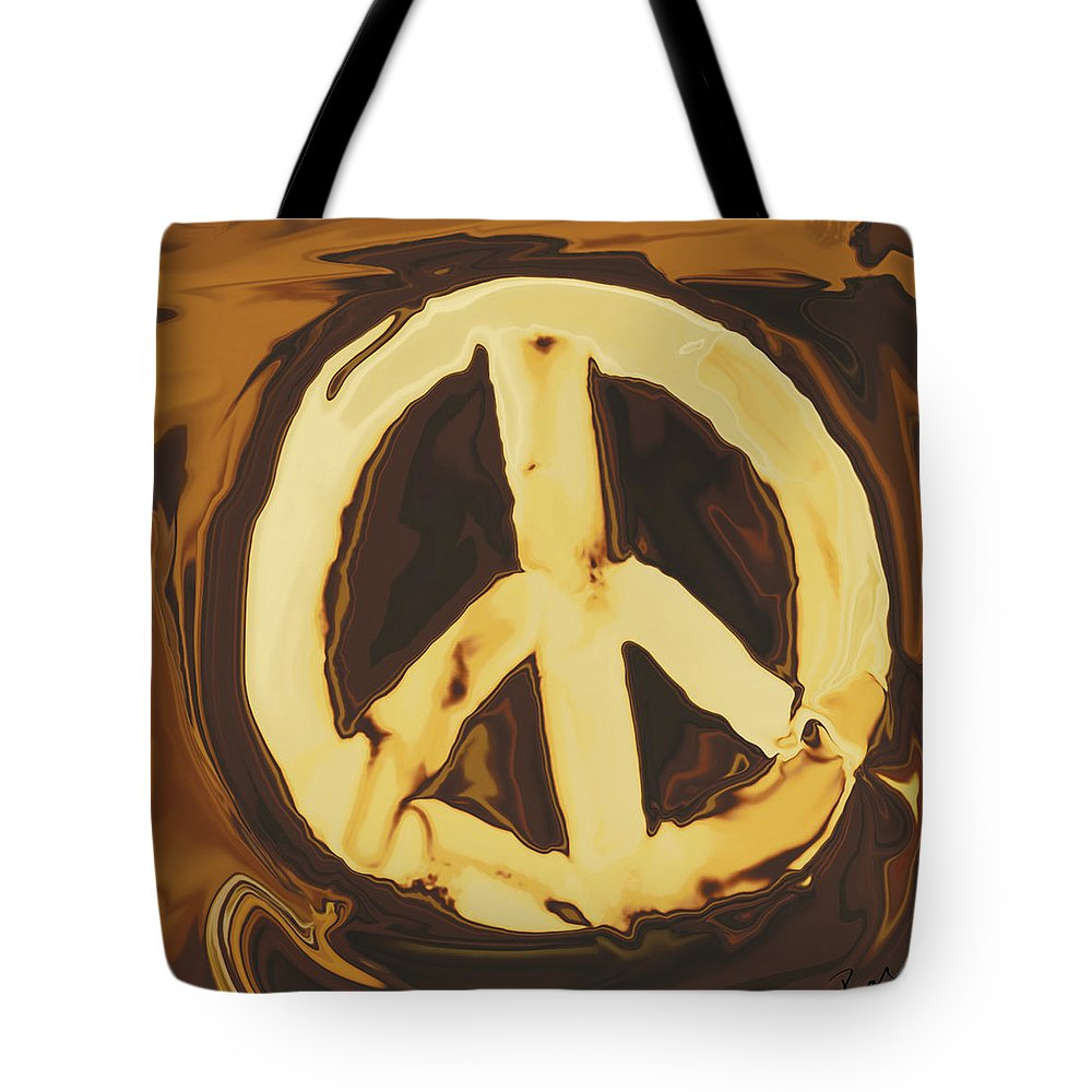 Freedom Tote Bag featuring the digital art Peace 2 by Rabi Khan