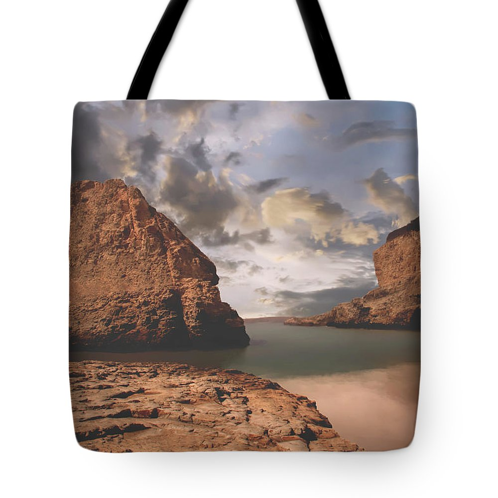 Shark Fin Cove Tote Bag featuring the photograph Peace And Love by Laurie Search