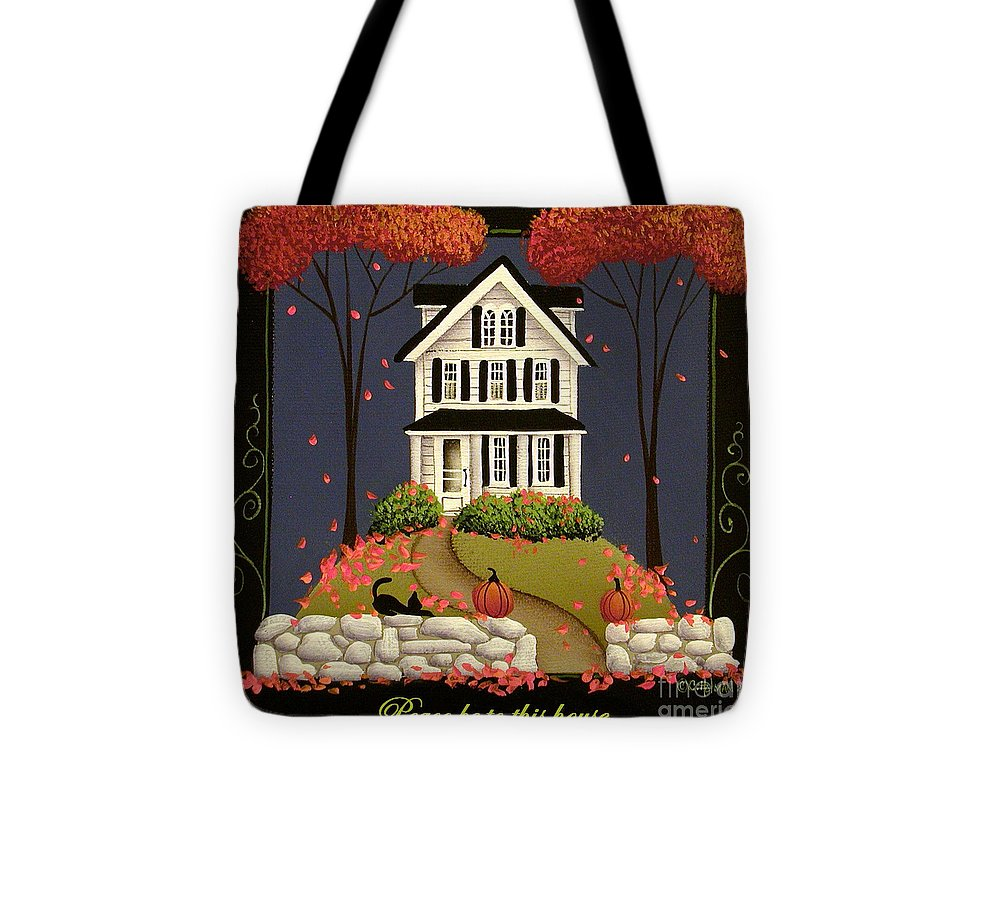 Art Tote Bag featuring the painting Peace Be To This House by Catherine Holman