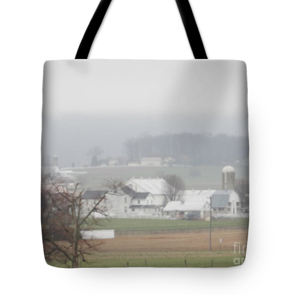 Amish Tote Bag featuring the photograph Peace Blankets The Farmland by Christine Clark