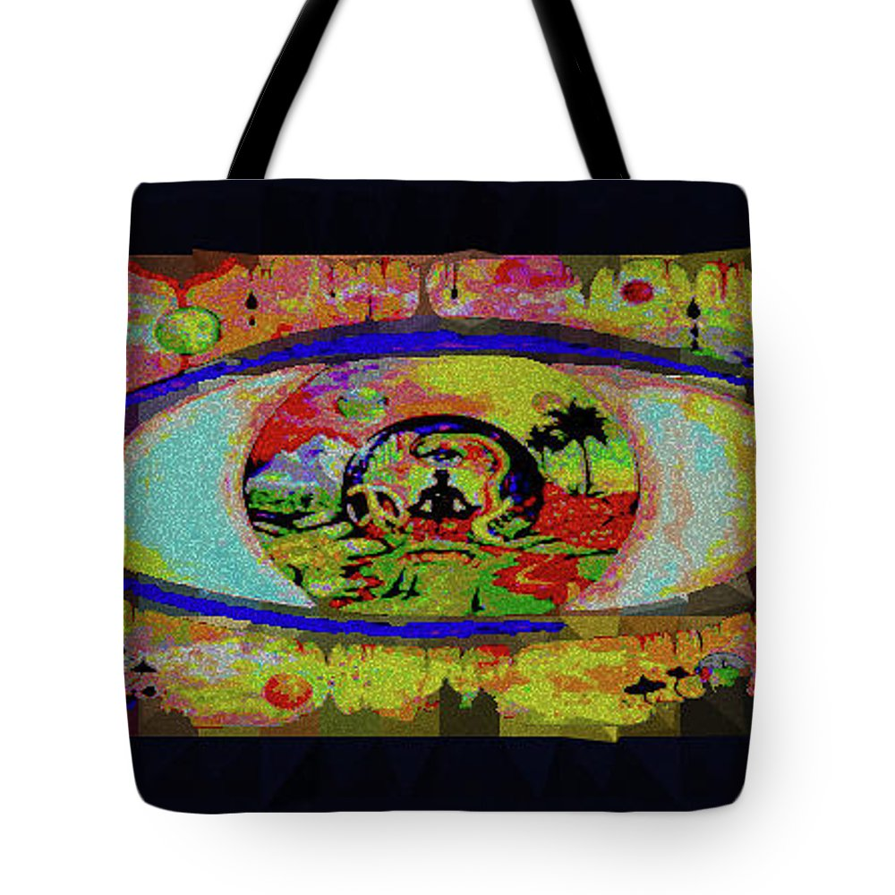 Tote Bag featuring the digital art Peace Can Be Seen by Preshen Govender