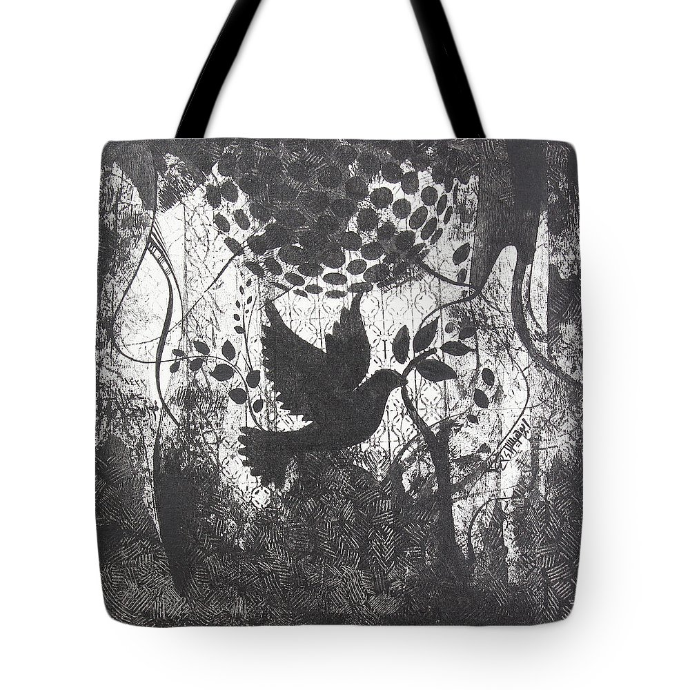 Tote Bag featuring the painting Peace by Fayez Aouad