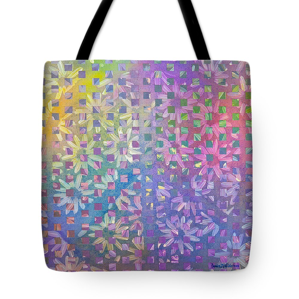Peace Sign Tote Bag featuring the painting Peace II by Sandra Neumann Wilderman