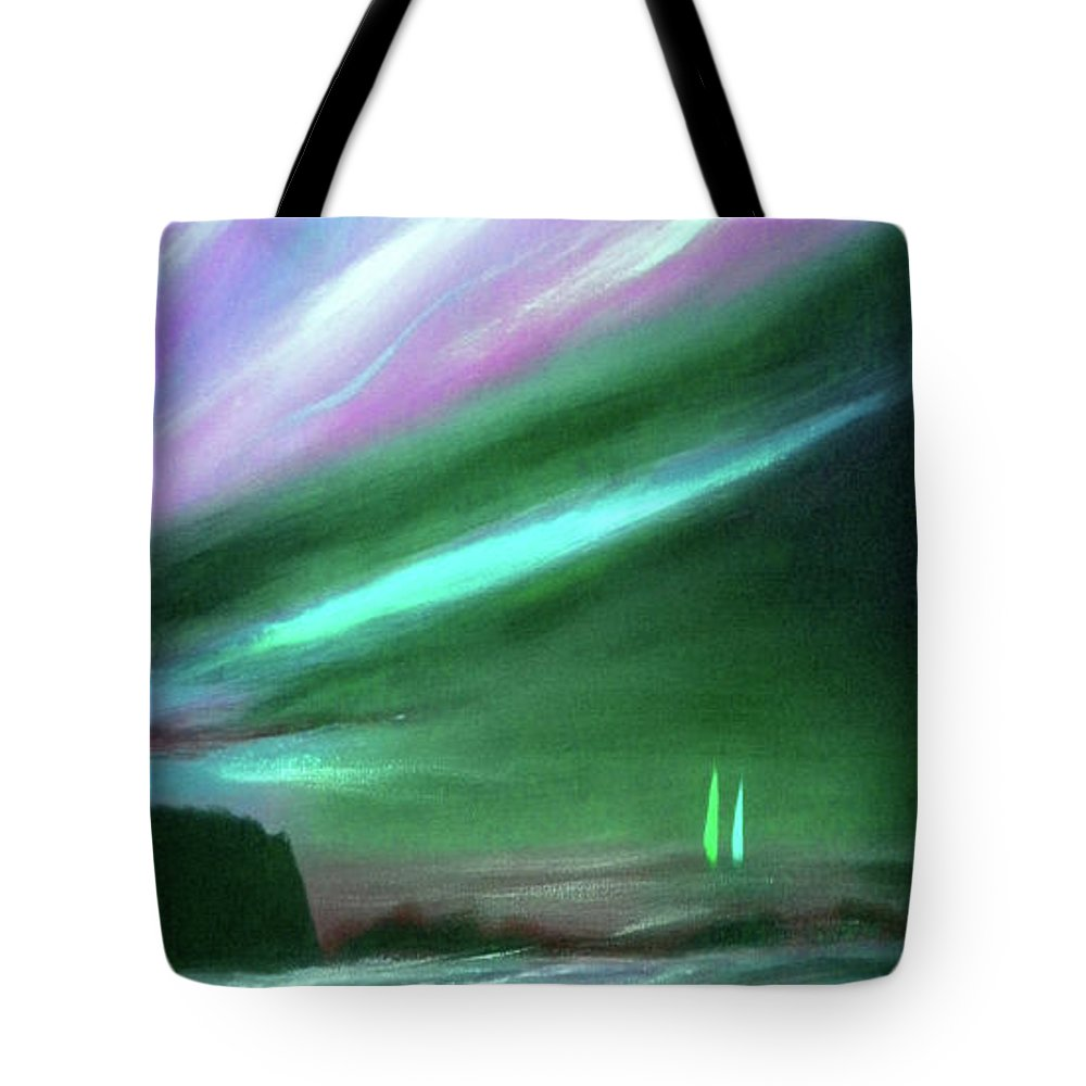 Sunset Tote Bag featuring the painting Peace Is Colorful 2 - Vertical Painting by Gina De Gorna