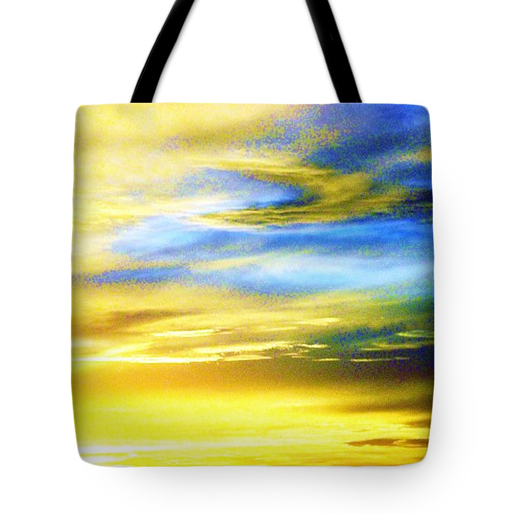 Sunsets Tote Bag featuring the photograph Peace Is Golden by Daniele Smith