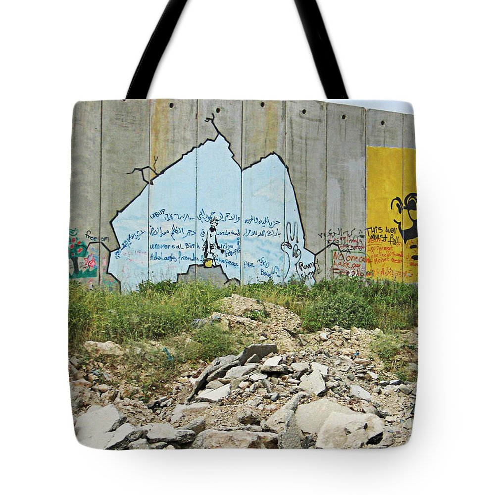 Peace Tote Bag featuring the photograph Peace Messages by Munir Alawi