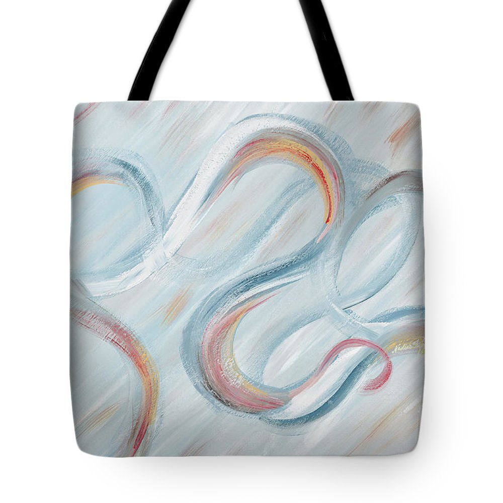Peace Tote Bag featuring the painting Peace by Nadine Rippelmeyer
